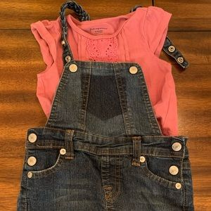 18 month overalls 7 For All Mankind with Shirt
